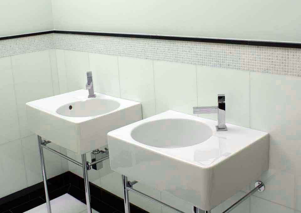 2 sinks no vanity