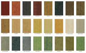 stained wood cabinetry colour chart