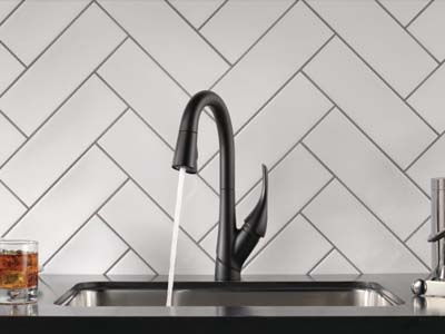 delta pull down kitchen faucet